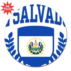 "El Salvador 3"" Lapel Sticker (48 pk)"