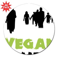 "Vegan Zombie 3"" Lapel Sticker (48 pk)"