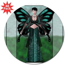 "Etégina the Night Fairy Rectangle 3"" Lapel Sticker (48 pk)"