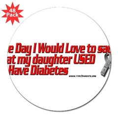 "daughter used red 3"" Lapel Sticker (48 pk)"