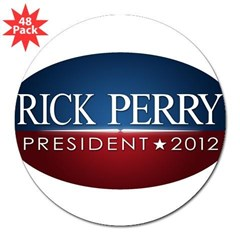 "Rick Perry 2012 Traditional 2 3"" Lapel Sticker (48 pk)"