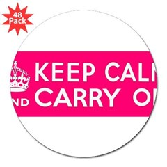 "CZARINA PINK 3"" Lapel Sticker (48 pk)"