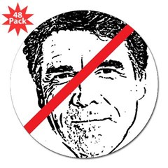 "No Rick Perry! 3"" Lapel Sticker (48 pk)"