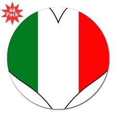 "Italy Heart 3"" Lapel Sticker (48 pk)"
