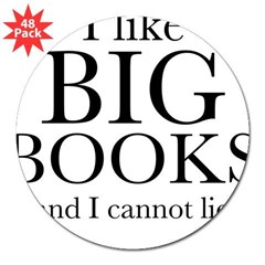 "I LIke Big Book 3"" Lapel Sticker (48 pk)"