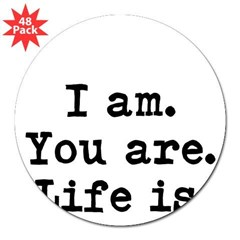 "I am 3"" Lapel Sticker (48 pk)"