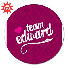 "Team Edward 3"" Lapel Sticker (48 pk)"