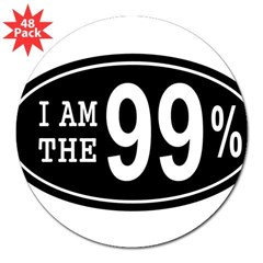 "I am the 99 Percent 3"" Lapel Sticker (48 pk)"
