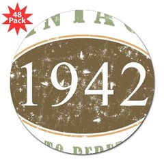Vintage 1942 Aged To Perfection 3&quot; Lapel Sticker (48 pk)