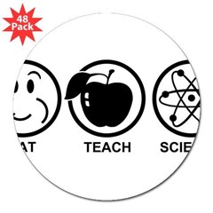 "Science Teacher 3"" Lapel Sticker (48 pk)"