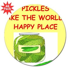 "pickles 3"" Lapel Sticker (48 pk)"