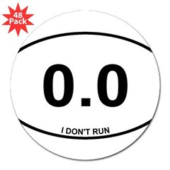 "Non Runner 3"" Lapel Sticker (48 pk)"