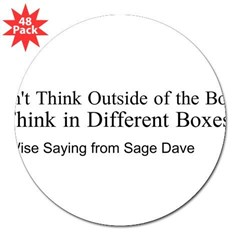"Boxes 3"" Lapel Sticker (48 pk)"