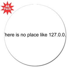 "127.0.0.1 Rectangle 3"" Lapel Sticker (48 pk)"