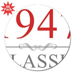 1947 Classic 3&quot; Lapel Sticker (48 pk)