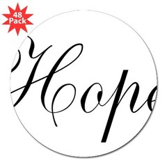 "Hope 3"" Lapel Sticker (48 pk)"