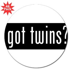 "got twins? 3"" Lapel Sticker (48 pk)"