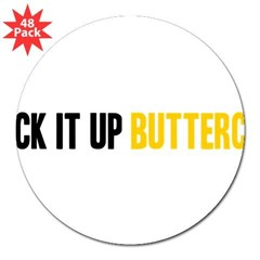 "Suck it Up, Buttercup 3"" Lapel Sticker (48 pk)"