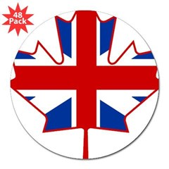 "UK Maple 3"" Lapel Sticker (48 pk)"