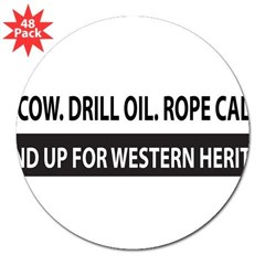 "Bumper Sticker - Western Heritage 3"" Lapel Sticker (48 pk)"