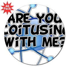 Are You Coitusing With Me? 3&quot; Lapel Sticker (48 pk)