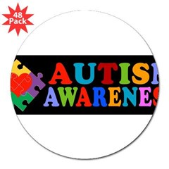 "Autism Awareness 3"" Lapel Sticker (48 pk)"