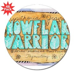 "Snowflake Warrior 3"" Lapel Sticker (48 pk)"