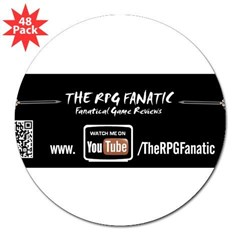 "RPG Fanatic Bumper Sticker (single) 3"" Lapel Sticker (48 pk)"