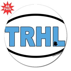 "North Carolina Tarheels ""TRHL"" Oval 3"" Lapel Sticker (48 pk)"