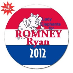 "Romney Ryan 3"" Lapel Sticker (48 pk)"