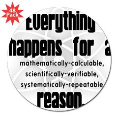 """For a Reason"" Rectangle 3"" Lapel Sticker (48 pk)"