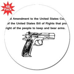 "The Second Amendment 3"" Lapel Sticker (48 pk)"