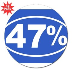 "47 Percent 3"" Lapel Sticker (48 pk)"