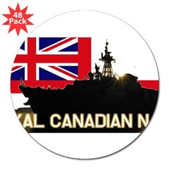 "Royal Canadian Navy Rectangle 3"" Lapel Sticker (48 pk)"