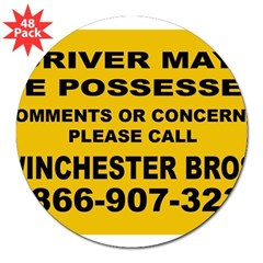 "How's My Driving 3"" Lapel Sticker (48 pk)"