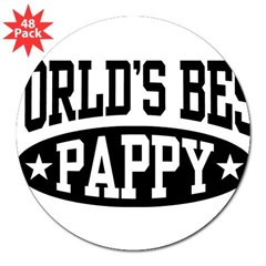"World's Best Pappy 3"" Lapel Sticker (48 pk)"