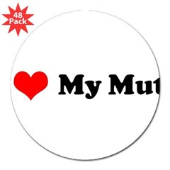 "I Love My Mutt 3"" Lapel Sticker (48 pk)"