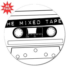"Tape 3"" Lapel Sticker (48 pk)"