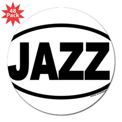 "JAZZ Euro Oval 3"" Lapel Sticker (48 pk)"