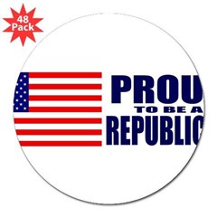 "Proud to be a Republican 3"" Lapel Sticker (48 pk)"