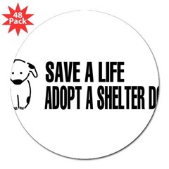 "Adopt A Dog 3"" Lapel Sticker (48 pk)"