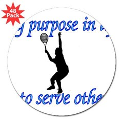 Purpose in Life is to Serve Oval 3&quot; Lapel Sticker (48 pk)