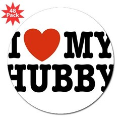 "I Love My Hubby Rectangle 3"" Lapel Sticker (48 pk)"