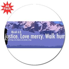 "Micah 6:8 3"" Lapel Sticker (48 pk)"