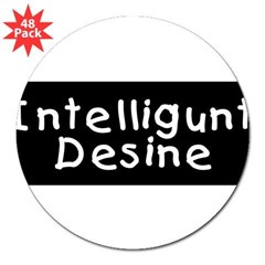 "Intelligunt Desine 3"" Lapel Sticker (48 pk)"