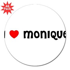 "I LOVE MONIQUE 3"" Lapel Sticker (48 pk)"