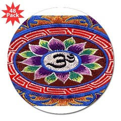 "OM Tapestry Oval 3"" Lapel Sticker (48 pk)"