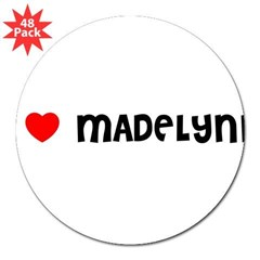"I LOVE MADELYNN 3"" Lapel Sticker (48 pk)"