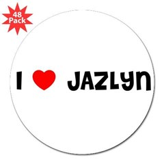 "I LOVE JAZLYN 3"" Lapel Sticker (48 pk)"