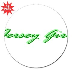 "Jersey Girl 3"" Lapel Sticker (48 pk)"